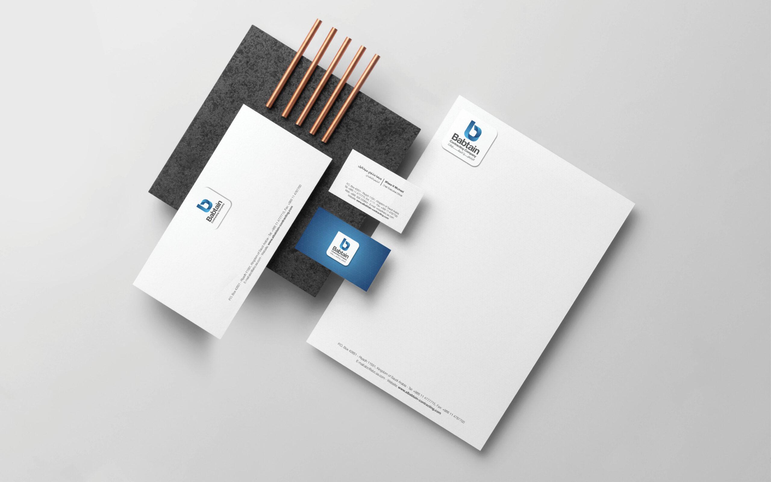 Babtain Contracting Branding