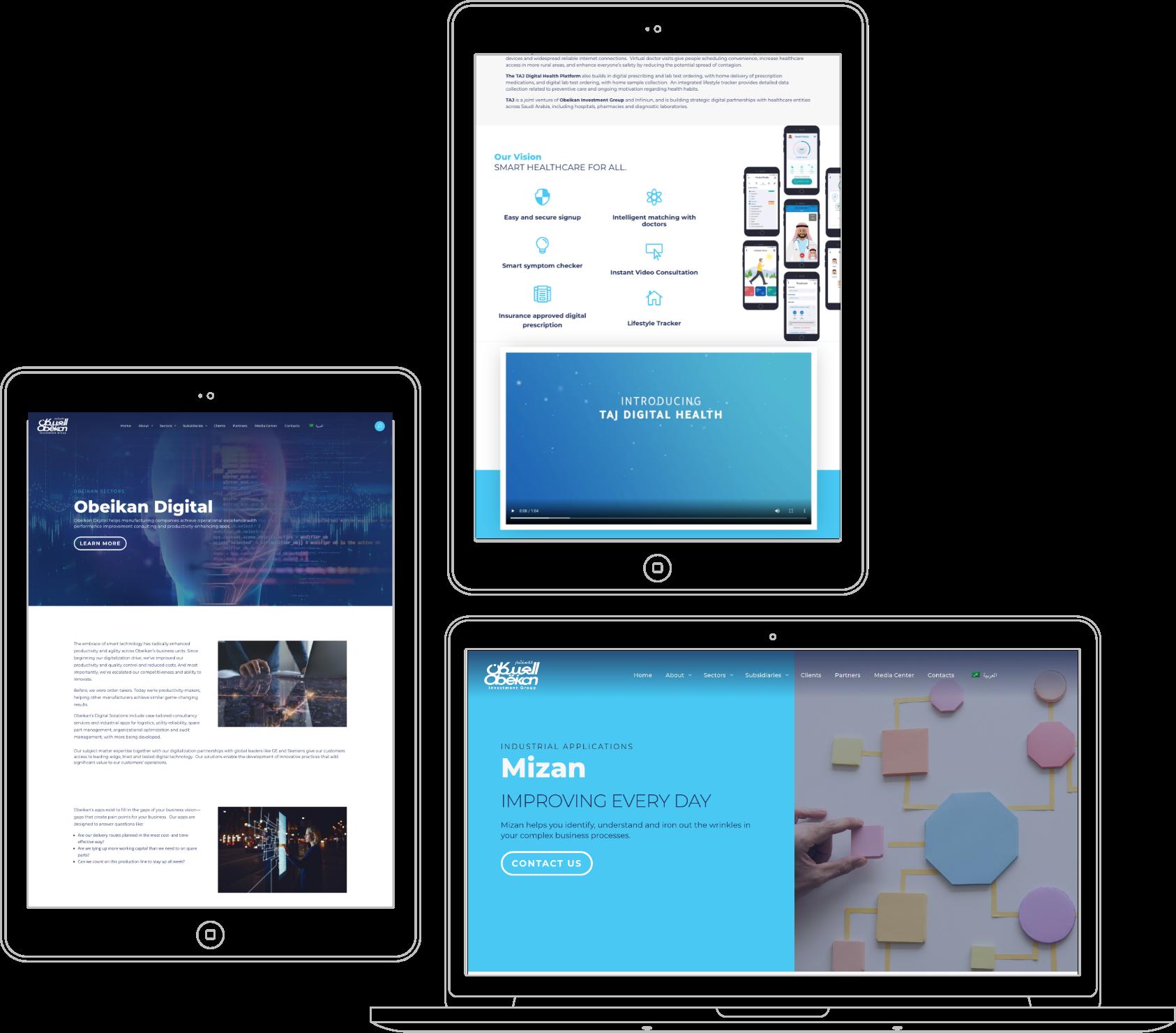 webdesign UI UX Obeikan
